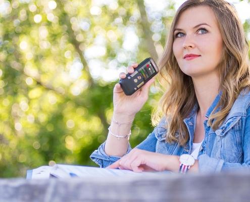 Convierta su voz en texto con grabación y reconocimiento de voz de 1ª calidad