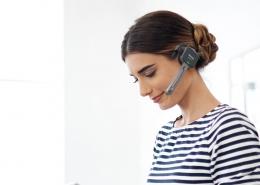 Los únicos auriculares de dictado profesional con un micrófono de precisión y transmisión de audio sin pérdida