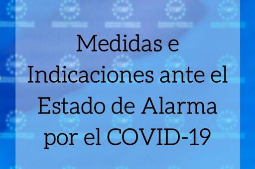 Medidas e indicaciones COVID-19